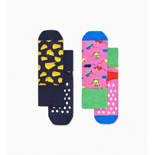 2-pack kids mouse anti-slip socks