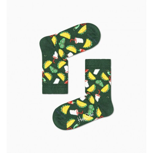 kids taco socks verd