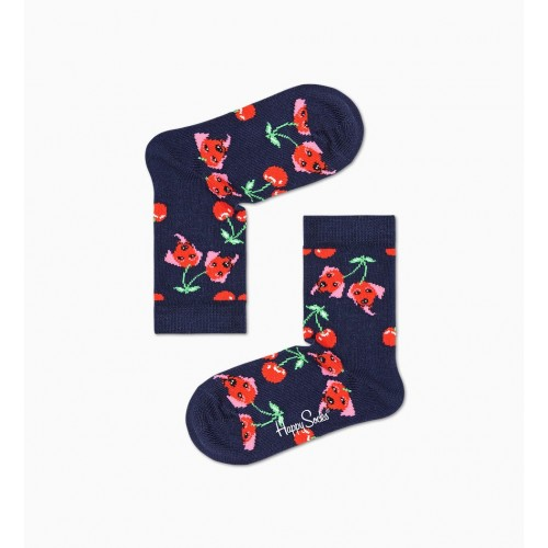 kids cherry dog socks blau marí