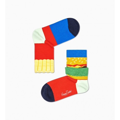 kids burger and fries socks