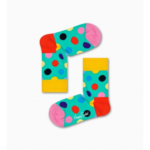 kids big dot socks verd